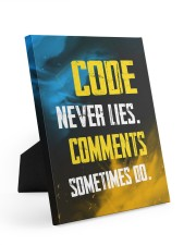 Code never lies 8x10 Easel-Back Gallery Wrapped Canvas thumbnail