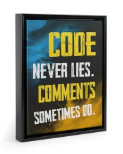Code never lies 11x14 Black Floating Framed Canvas Prints thumbnail