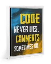 Code never lies 11x14 White Floating Framed Canvas Prints thumbnail