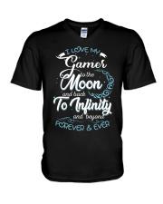 I love my GAMER V-Neck T-Shirt thumbnail