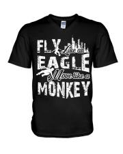 I do parkour V-Neck T-Shirt thumbnail