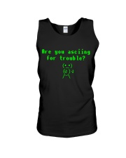 Asciing for trouble Unisex Tank thumbnail