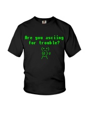 Asciing for trouble Youth T-Shirt thumbnail