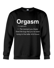 Orgasm defination Crewneck Sweatshirt tile