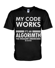 My code works V-Neck T-Shirt thumbnail