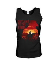 Outlaws to the end Unisex Tank thumbnail