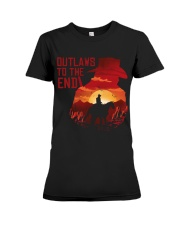 Outlaws to the end Premium Fit Ladies Tee thumbnail