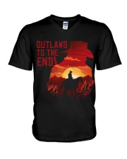 Outlaws to the end V-Neck T-Shirt thumbnail