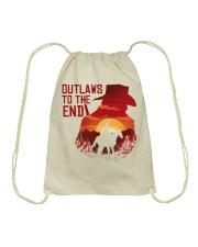 Outlaws to the end Drawstring Bag thumbnail