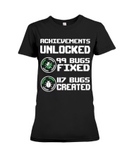 Achievements unlocked Premium Fit Ladies Tee thumbnail