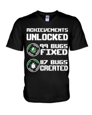 Achievements unlocked V-Neck T-Shirt thumbnail