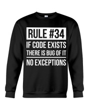 Rule 34 Crewneck Sweatshirt thumbnail