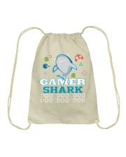 Gamer shark Drawstring Bag thumbnail