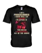 I am a Programmer V-Neck T-Shirt thumbnail