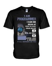 I am programmer V-Neck T-Shirt thumbnail