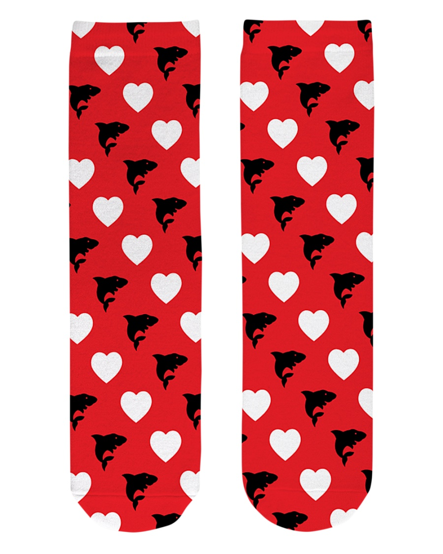 Shark Lover  Crew Length Socks