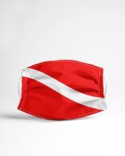 Scuba diving flag Cloth face mask aos-face-mask-lifestyle-22