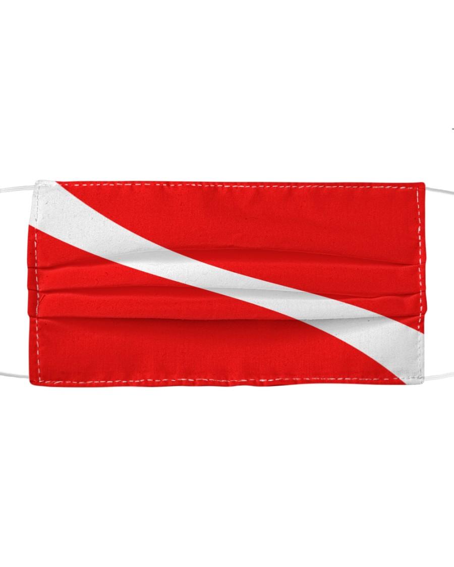 Scuba diving flag Cloth face mask