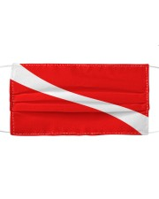 Scuba diving flag Cloth face mask front