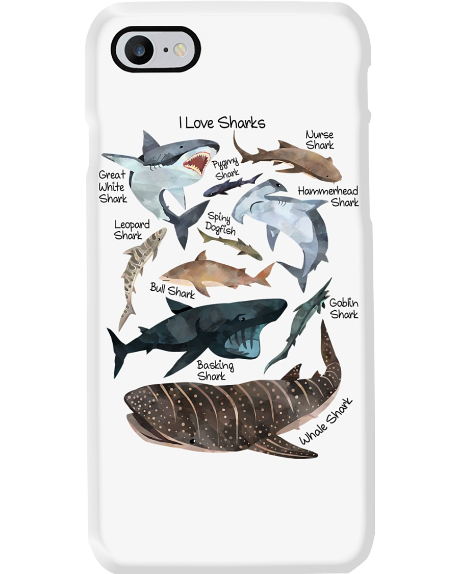 I Love Sharks Phone Case