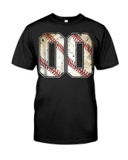 00 Baseball Jersey Number 00 R Classic T-Shirt front