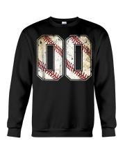00 Baseball Jersey Number 00 R Crewneck Sweatshirt thumbnail