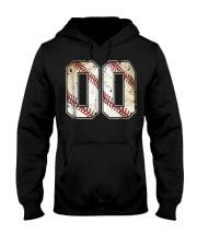 00 Baseball Jersey Number 00 R Hooded Sweatshirt thumbnail