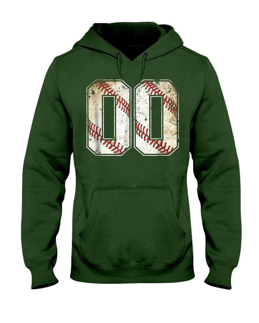00 Baseball Jersey Number 00 R Hooded Sweatshirt