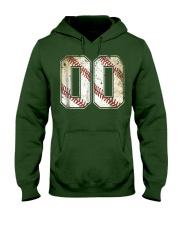 00 Baseball Jersey Number 00 R Hooded Sweatshirt front
