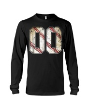 00 Baseball Jersey Number 00 R Long Sleeve Tee tile