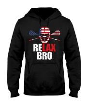 American Flag Relax Bro Lacrosse T-sh Hooded Sweatshirt thumbnail