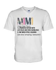 Mimi Definition Colorful V-Neck T-Shirt thumbnail