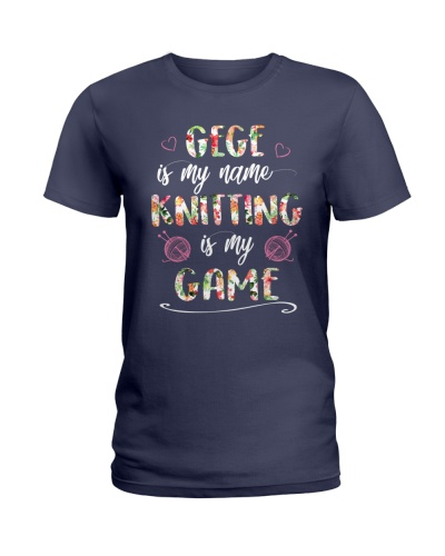 Gege is my name Knitting is my game