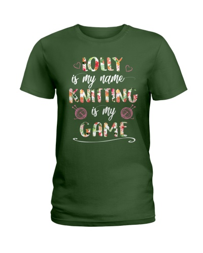 Lolly is my name Knitting is my game