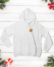 HyperFlo Orange-Black Logo with Design Hooded Sweatshirt lifestyle-holiday-hoodie-front-3