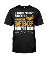 STICKER BARTENDER Classic T-Shirt front