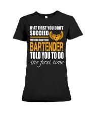 STICKER BARTENDER Premium Fit Ladies Tee thumbnail