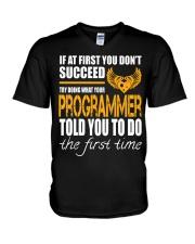 STICKER PROGRAMMER V-Neck T-Shirt thumbnail