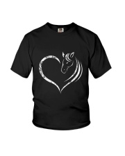 Horse Lovers - Cute T-Shirt for Girls Youth T-Shirt thumbnail