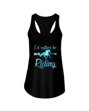 Horse Rider Shirt Girls ID RATHER BE RIDING Horse Ladies Flowy Tank thumbnail