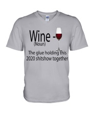 wine  V-Neck T-Shirt thumbnail