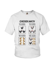 CHICKEN MATH Youth T-Shirt tile