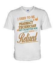 I USED TO BE PHARMACY TECHNICIAN V-Neck T-Shirt thumbnail
