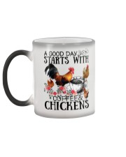 A good day strarts with coffee and chickens Color Changing Mug color-changing-left