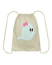 spooky ghost Drawstring Bag thumbnail