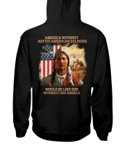 Native American Soldier Hooded Sweatshirt back
