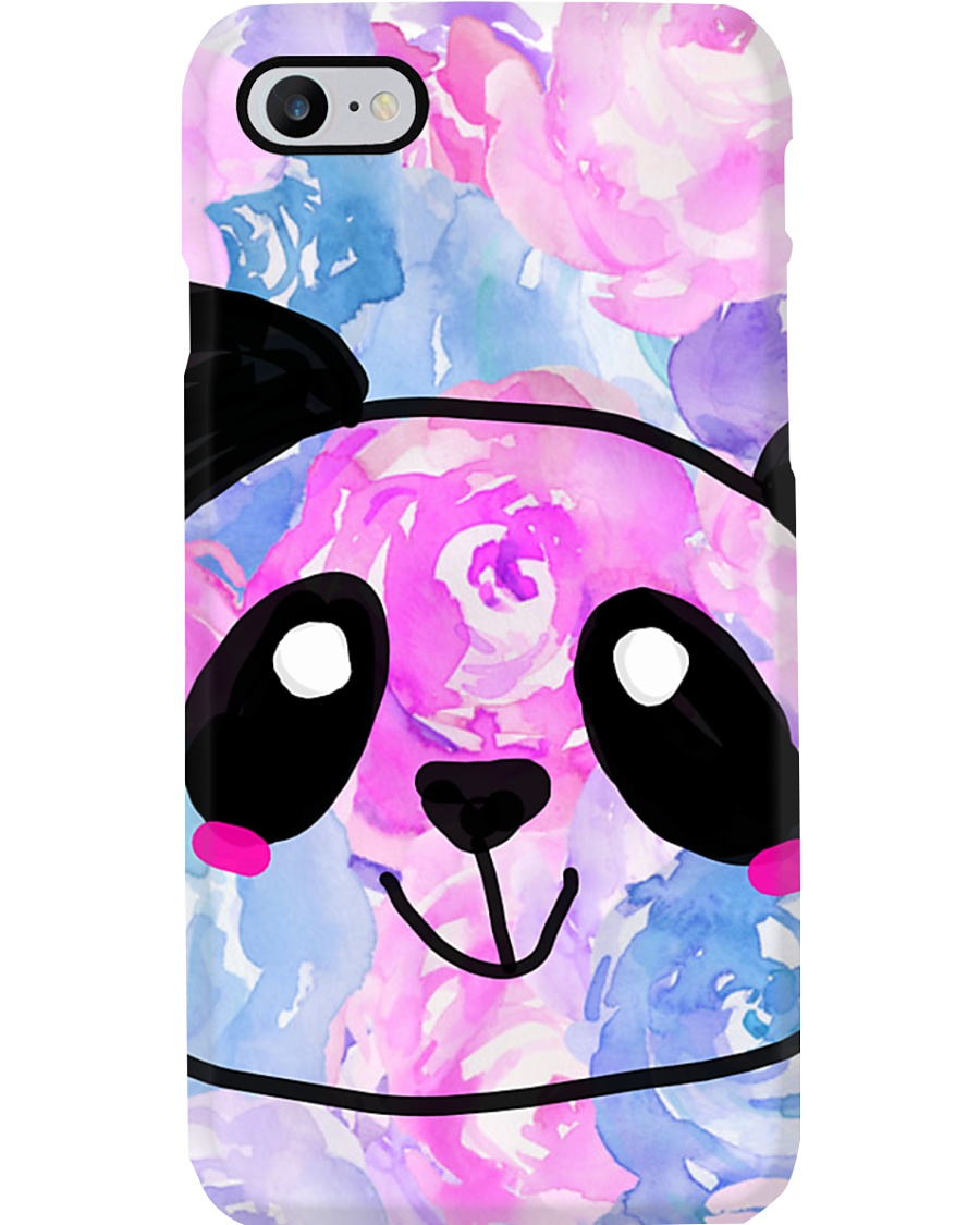 Cotton Candy Rose Panda Phone Case
