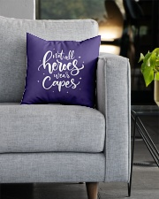 Not All Heroes Wear Capes Nurses Square Pillowcase aos-pillow-square-front-lifestyle-05