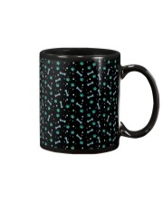 Seamless Pattern With Dog Paw Print and Bone Mug thumbnail