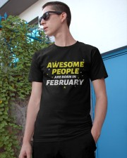 Awesome People Are Born In february Classic T-Shirt apparel-classic-tshirt-lifestyle-17